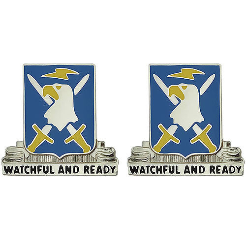 104th Military Intelligence Battalion Unit Crest (Watchful and Ready)