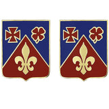 106th Field Artillery Regiment Unit Crest (No Motto)
