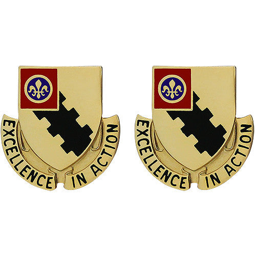 108th Armored Cavalry Regiment Unit Crest (Excellence in Action)
