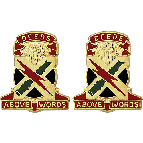 108th ADA (Air Defense Artillery) Brigade Unit Crest (Deeds Above Words)