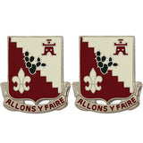 109th Engineer Battalion Unit Crest (Allons Y Faire)