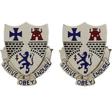 112th Infantry Regiment Unit Crest (Strive Obey Endure)