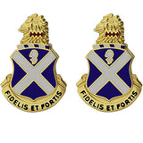113th Infantry Regiment Unit Crest (Fidelis Et Fortis)