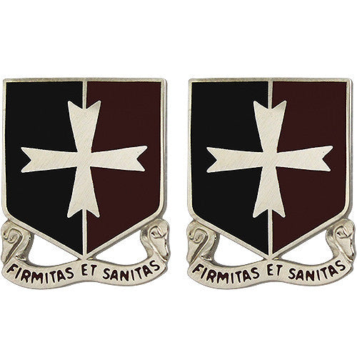 113th Support Battalion Unit Crest (Firmitas Et Sanitas)