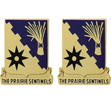 114th Cavalry Regiment Unit Crest (The Prairie Sentinels)