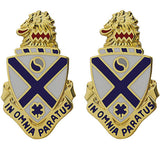 114th Infantry Regiment Unit Crest (In Omnia Paratus)