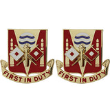 115th Signal Battalion Unit Crest (First in Duty)
