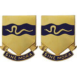 116th Cavalry Regiment Unit Crest (Sine Mora)