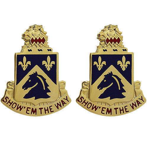 102nd Cavalry Regiment Unit Crest (Show 'Em the Way)