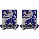 119th Infantry Regiment Unit Crest (Undaunted)
