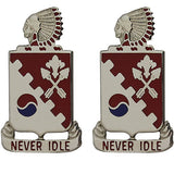 120th Engineer Battalion Unit Crest (Never Idle)