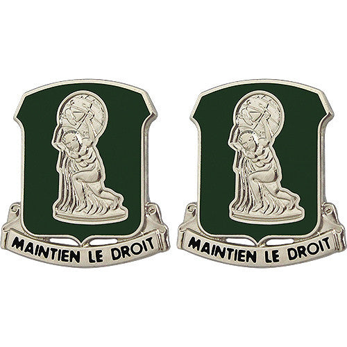 122nd Support Battalion Unit Crest (Maintien Le Droit)