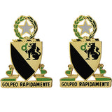 124th Cavalry Regiment Unit Crest (Golpeo Rapidamente)