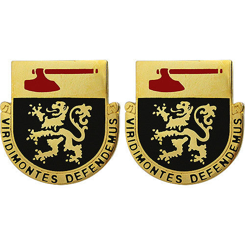 124th Regiment Unit Crest (Viridimontes Defendemus)