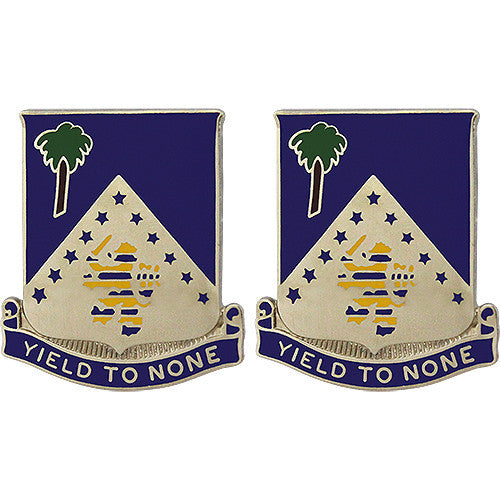 125th Infantry Regiment Unit Crest (Yield to None)