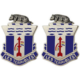 127th Infantry Regiment Unit Crest (Les Terribles)