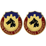 127th Support Battalion Unit Crest (Iron Eagle Support)