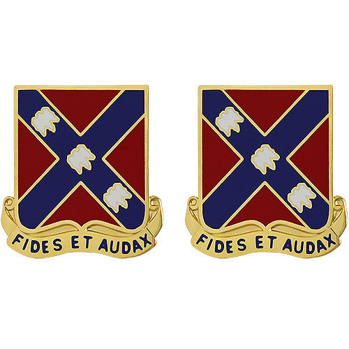 134th Field Artillery Regiment Unit Crest (Fides Et Audax)