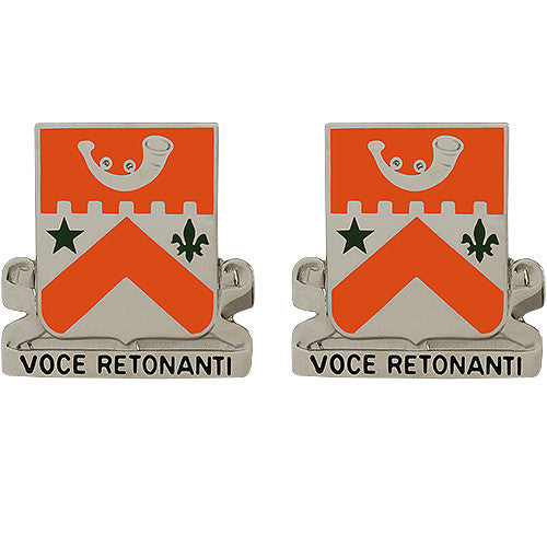 134th Signal Battalion Unit Crest (Voce Retonanti)