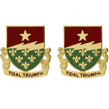 136th Regiment Unit Crest (Tidal Triumph)