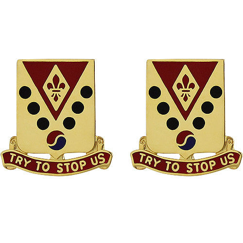 142nd Field Artillery Regiment Unit Crest (Try to Stop Us)
