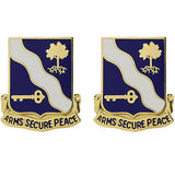 143rd Infantry Regiment Unit Crest (Arms Secure Peace)