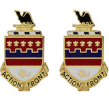 146th Field Artillery Regiment Unit Crest (Action Front)