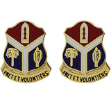 147th Field Artillery Regiment Unit Crest (Pret Et Volontiers)