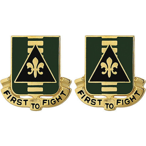 156th Armor Regiment Unit Crest (First to Fight)