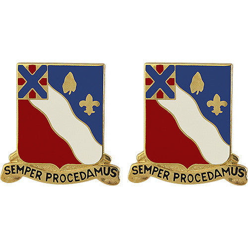 156th Field Artillery Regiment Unit Crest (Semper Procedamus)
