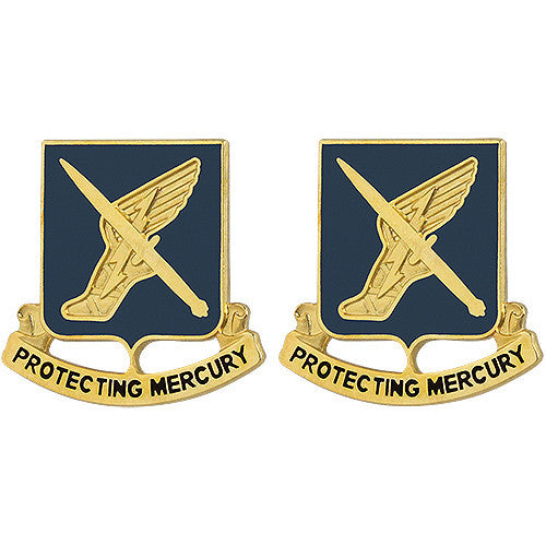 156th Information Operations Battalion Unit Crest (Protecting Mercury)