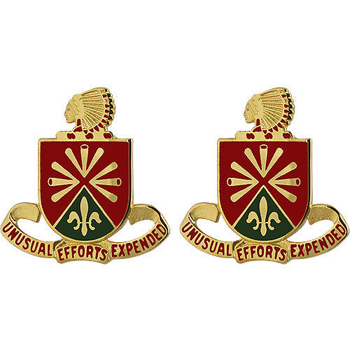 158th Field Artillery Regiment Unit Crest (Unusual Efforts Expended)