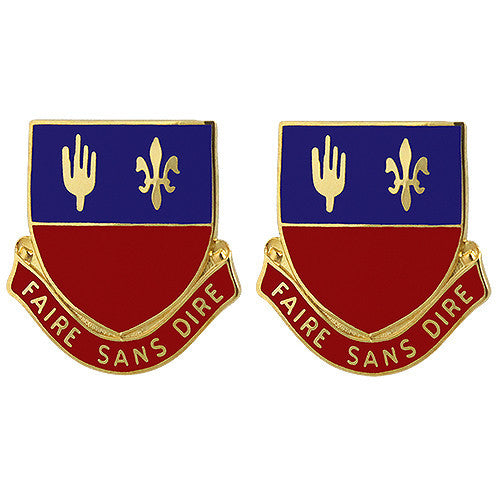 161st Field Artillery Regiment Unit Crest (Faire Sans Dire)