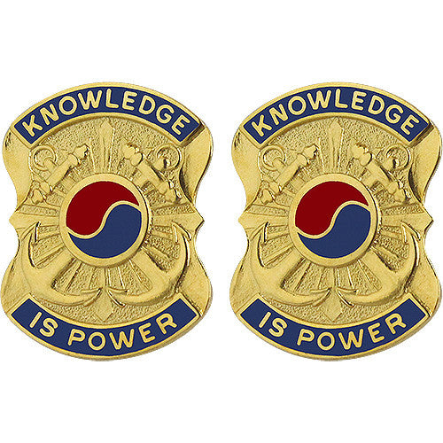 163rd Military Intelligence Battalion Unit Crest (Knowledge is Power)
