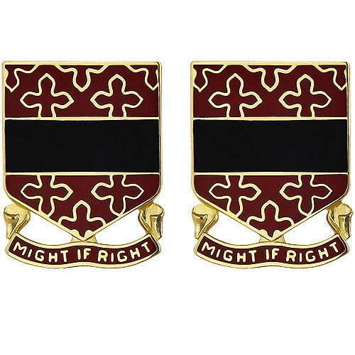 182nd Field Artillery Regiment Unit Crest (Might if Right)