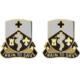 187th Medical Battalion Unit Crest (Train to Save)