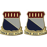 195th Regiment Unit Crest (Take and Hold)