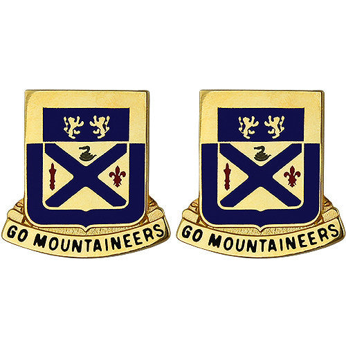 197th Regiment Unit Crest (Go Mountaineers)