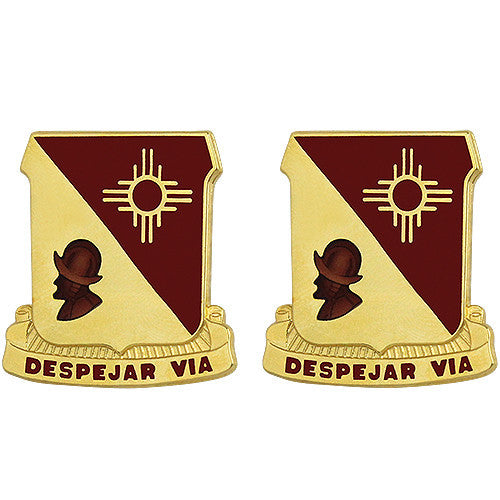 202nd Field Artillery Regiment Unit Crest (Despejar Via)