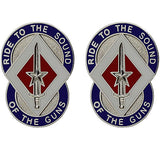 208th Support Group Unit Crest (Ride to the Sound of the Guns)