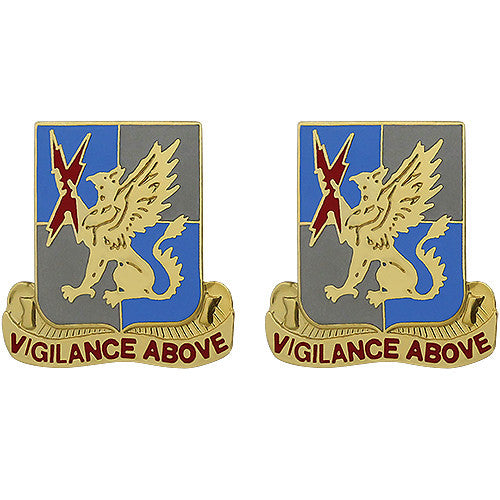 224th Military Intelligence Battalion Unit Crest (Vigilance Above)