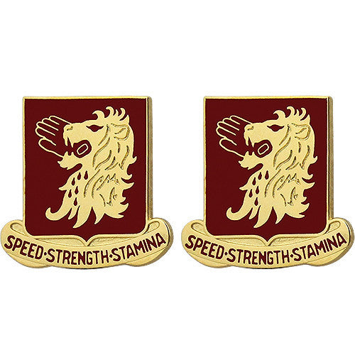 230th Cavalry Regiment Unit Crest (Speed Strength Stamina)