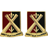 235th Regiment Unit Crest (Meet Our Thunder)