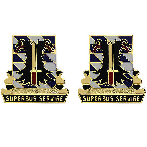 280th Support Battalion Unit Crest (Superbus Servire)