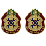 298th Support Battalion Unit Crest (Ire In Adversa)