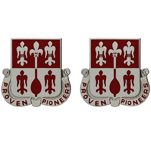 299th Engineer Battalion Unit Crest (Proven Pioneers)