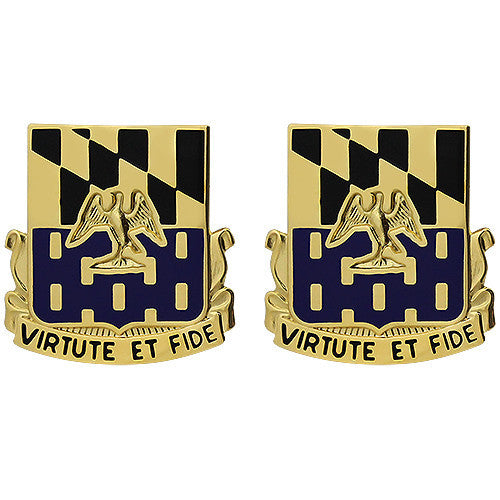 313th Infantry Regiment Unit Crest (Virtute Et Fide)