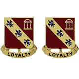 319th Field Artillery Regiment Unit Crest (Loyalty)