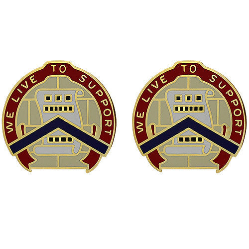 364th Sustainment Command Unit Crest (We Live to Support)