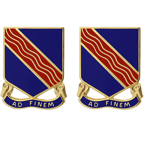 379th Regiment Unit Crest (Ad Finem)
